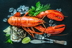 Free Shellfish Plate Of Crustacean Seafood Royalty Free Stock Photography - 71458397