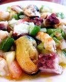 Shellfish salad tapa Salpicon de marisco. Spain. Royalty Free Stock Photo