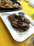 Seafood. Shellfish seafood stir fry Stock Photo