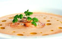 Shellfish soup Royalty Free Stock Photography