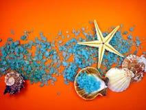 Shells And Bath Salt Stock Photo
