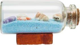 Shells In Bottle Stock Image