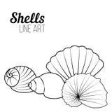 Shells, lijnart. Stock Fotografie