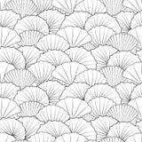 Shells naadloos patroon Royalty-vrije Stock Foto's