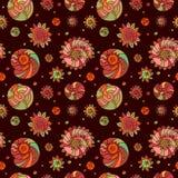 Shells naadloze patroonachtergrond Stock Foto's