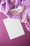Shells and paper with draperie Royalty Free Stock Photography