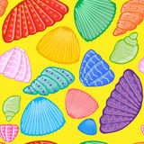 Shells pattern Royalty Free Stock Images