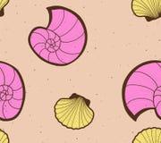 Shells seamless background Stock Photos