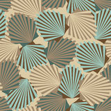 Shells seamless pattern. Vector seamless vintage pattern with colorful shells Stock Photos