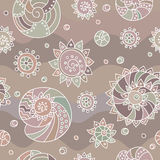 Shells seamless pattern beige shade Royalty Free Stock Photography