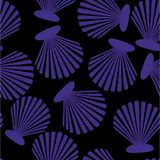 Shells seamless pattern. Vector seashells Royalty Free Stock Photography