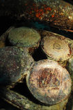 Shells on the SS Thistlegorm. Royalty Free Stock Images
