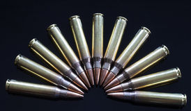 Shells with steel core bullets Royalty Free Stock Photos
