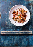 Shells vongole with tomato sauce Royalty Free Stock Image