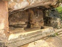 Shellter i gammalt kungarike i Sri Lanka Arkivfoto