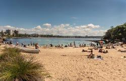Shelly Beach at Manly on Tasman Sea, Sydney Australia. Stock Photos
