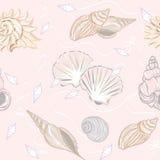Shelly naadloos patroon Royalty-vrije Stock Afbeeldingen