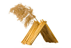 Shelter. From a reed made by  myself on a white background Stock Photography