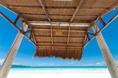 Shelter on beach Stock Images