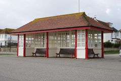 Shelter at Bexhill-0n-Sea. Sussex. UK Stock Photos