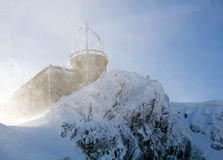 Shelter in blizzard. Shelter on the mountain peak during blizzard. Kasprowy Wierch, Tatry, Zakopane Stock Image