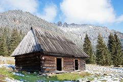 Shelter in Chocholowska Polana Royalty Free Stock Photos