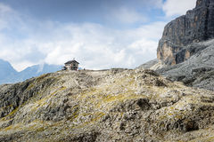 Shelter in the Dolomites. Stock Photo