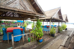 Shelter on floating restaurant Royalty Free Stock Photo