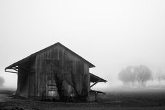 Shelter in the fog Royalty Free Stock Photo