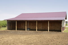 Shelter for horses stock images