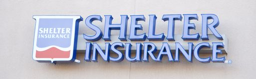 Shelter Insurance Sign Stock Image