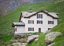 Shelter on italian alps Stock Image