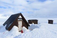 Shelter at Kungsleden stock photos