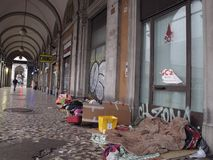 Urban degradation in Rome, Italy stock images