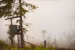 Shelter for moose hunting Royalty Free Stock Images