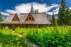 Shelter in the mountains in summer Royalty Free Stock Photo