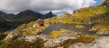 Shelter Munkebu Hut, Lofoten Royalty Free Stock Photo