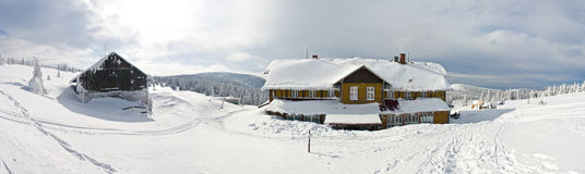 Shelter near the Snieznik mountain Royalty Free Stock Photos