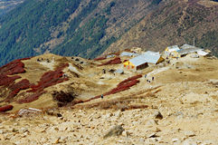 Shelter in Nepal  Royalty Free Stock Images