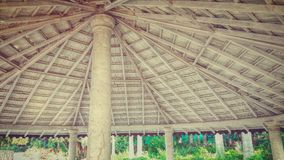 Shelter for picnic. A picnic spot shelter in jabalpur Royalty Free Stock Photo