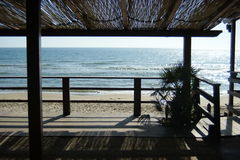 Shelter beside the sea beach Royalty Free Stock Photography