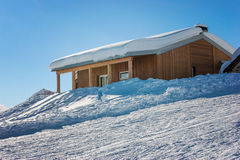 Shelter in the snow Royalty Free Stock Photography