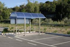 Shelter for supermarket trolleys Stock Images