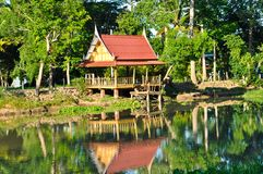Shelter wayside and river in thai tradition Stock Photography