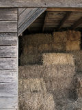 Sheltered Bales of Straw Stock Images