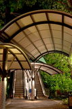 Sheltered walkway and escalators Royalty Free Stock Image