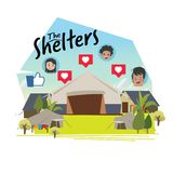 Shelters area of immigrants kid - vector illustration. Shelters area of immigrants kid - vector vector illustration