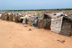 Shelters in Darfur. September 22, 2004 -Typical shelters in the Riyad camp near El Geneina, in East Darfur, Sudan. Most in these informal camps live with very Stock Photos