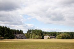 Shelters on former airfield Soesterberg Stock Photo