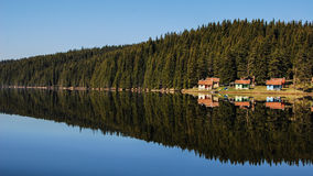 Shelters on the lake. Royalty Free Stock Photography